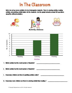 Preview image for worksheet with title In the Classroom