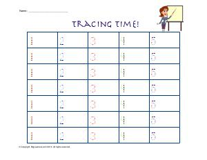 Preview image for worksheet with title Tracing Time! ( 1 - 5 )