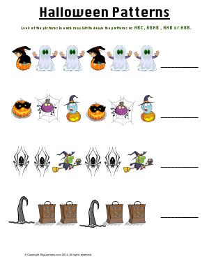 Preview image for worksheet with title Halloween Patterns