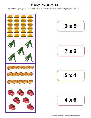 Preview image for worksheet with title Multiplication