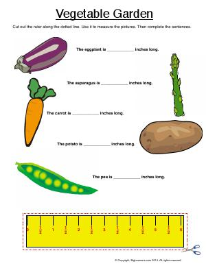 Preview image for worksheet with title Vegetable Garden