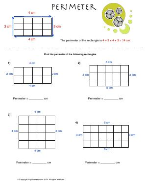 Preview image for worksheet with title Perimeter