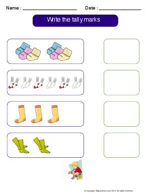 Preview image for worksheet with title Write the Tally Marks