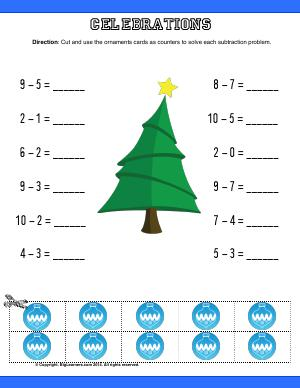 Preview image for worksheet with title Celebrations ( Christmas Theme )