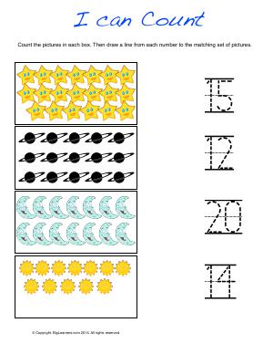 Preview image for worksheet with title I Can Count