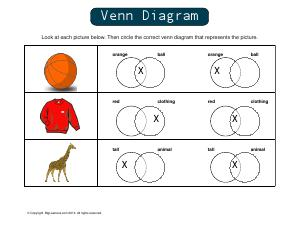 Preview image for worksheet with title Venn Diagram