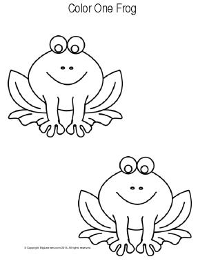 Preview image for worksheet with title Color One Frog