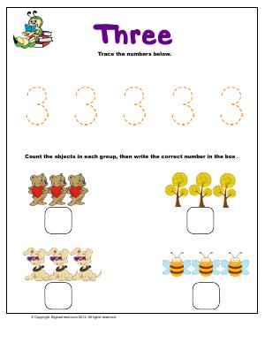 Preview image for worksheet with title Number 3