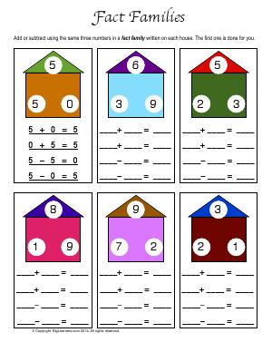 math worksheet : free math worksheets fact families  educational math activities : Math Fact Family Worksheets
