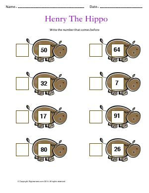 Preview image for worksheet with title Henry the Hippo