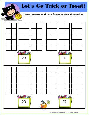 Preview image for worksheet with title Let's Go Trick or Treat!
