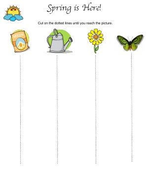 Preview image for worksheet with title Spring is Here!