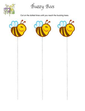 Preview image for worksheet with title Buzzy Bees