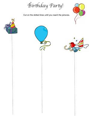 Preview image for worksheet with title Birthday Party!
