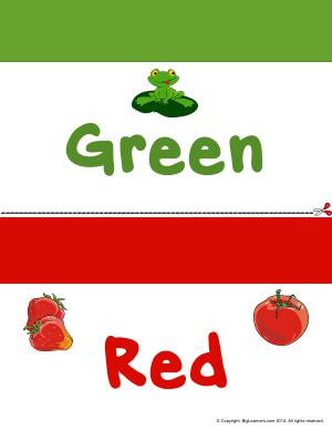Preview image for worksheet with title Colors Flashcards