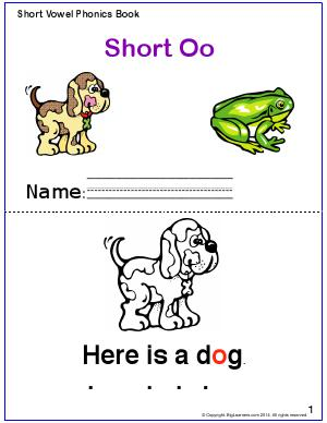 Preview image for worksheet with title Short Vowel Phonics Book - Short Oo Sound