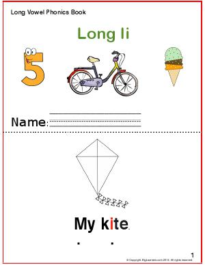 Preview image for worksheet with title Long Vowel Phonice Book - Long Ii Sound