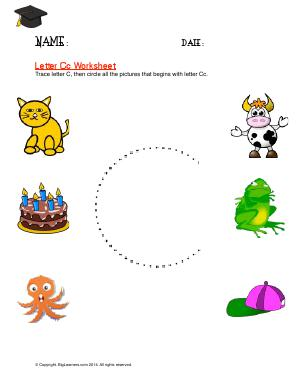 Preview image for worksheet with title Letter Cc Worksheet