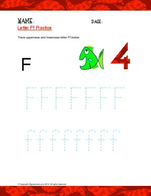 Preview image for worksheet with title Letter Ff Practice