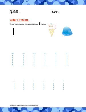 Preview image for worksheet with title Letter Ii Practice