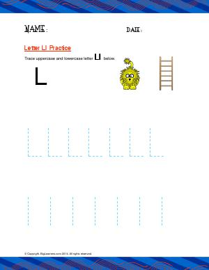 Preview image for worksheet with title Letter Ll Practice