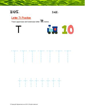 Preview image for worksheet with title Letter Tt Practice