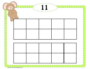 Preview image for worksheet with title Blank Double Frames 11 - 20