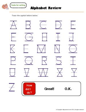 Preview image for worksheet with title Alphabet Review