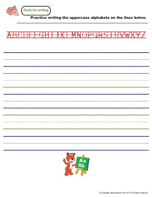 Preview image for worksheet with title Handwriting Practice - Uppercase Letters