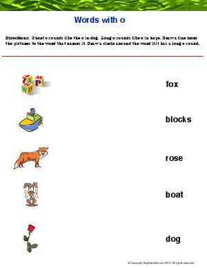 "Preview image for worksheet with title Words With ""Oo"""