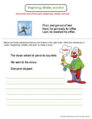 CCSS.ELA-LITERACY.W.1.A : First Grade English Language Arts Worksheets