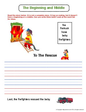 Preview image for worksheet with title The Beginning and Middle