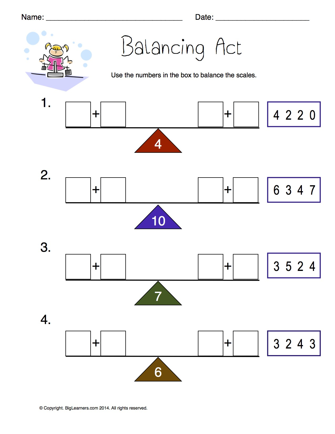Worksheets Balancing Act Worksheet Answers balancing act worksheet answers no downloads