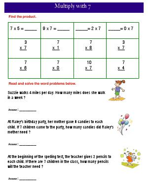 Pre Algebra 7th Grade Worksheets Pdf Grade   Free Common Core Math Worksheets  Biglearners Kindergarten Safety Worksheets with Adverbial And Adjectival Phrases Worksheets Preview Image For Worksheet With Title Multiply With  Water On Earth Worksheet Word