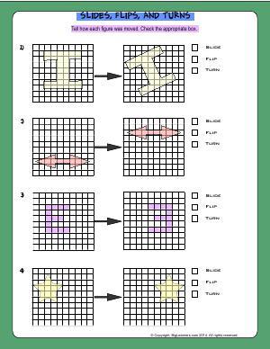 slide flips and turns third grade math worksheets biglearners. Black Bedroom Furniture Sets. Home Design Ideas