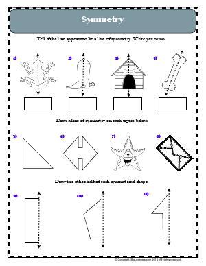 symmetry and line of symmetry third grade math worksheets biglearners. Black Bedroom Furniture Sets. Home Design Ideas