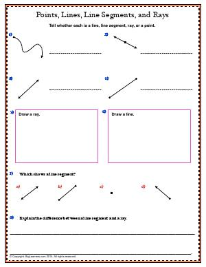 angles and line segments third grade math worksheets biglearners. Black Bedroom Furniture Sets. Home Design Ideas