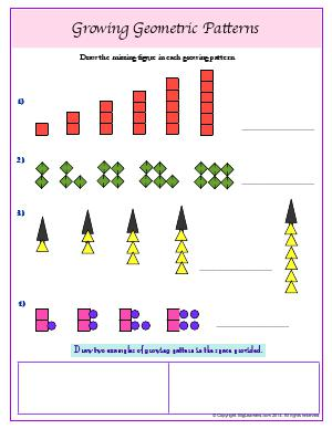 patterns third grade math worksheets biglearners. Black Bedroom Furniture Sets. Home Design Ideas