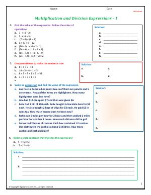 math worksheet : grade 4  free common core math worksheets  biglearners : Math Expressions Grade 4 Worksheets