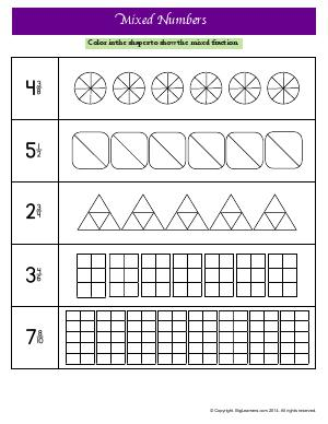 Understand Fractions : Fractions and Decimals : Third Grade Math ...