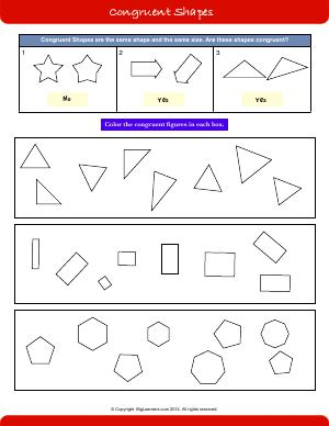 Geometry and Patterns | Second Grade Math Worksheets | Biglearners