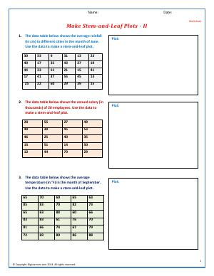 histograms and stem and leaf plots fifth grade math worksheets biglearners. Black Bedroom Furniture Sets. Home Design Ideas