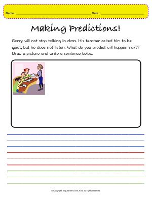 Preview image for worksheet with title Making Predictions!
