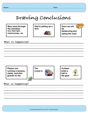 Preview image for worksheet with title Drawing Conclusions