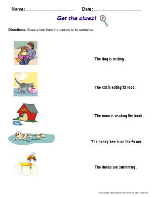 Preview image for worksheet with title Get the clues!