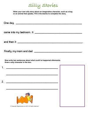 Preview image for worksheet with title Silly Stories