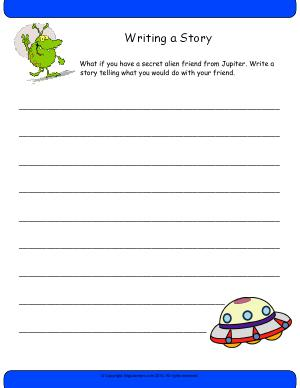 Preview image for worksheet with title Writing a Story