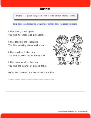 poetry rhythm rhyme and alliteration second grade english worksheets biglearners. Black Bedroom Furniture Sets. Home Design Ideas