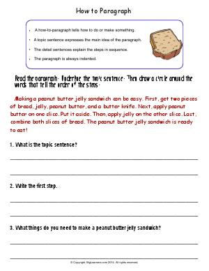 Preview image for worksheet with title How to Paragraph
