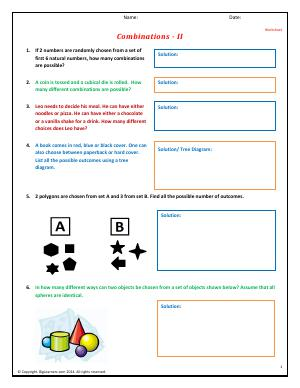 combinations fourth grade math worksheets biglearners. Black Bedroom Furniture Sets. Home Design Ideas